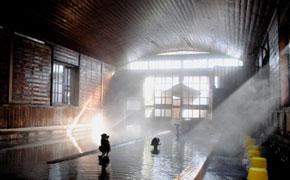千人風呂と呼ばれる下田金谷旅館の温泉