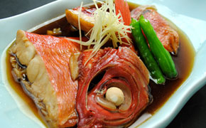 金目鯛のおいしい食べ方のひとつ、煮付け
