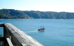 下田港を一周する黒船遊覧船
