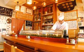 松江寿司の店内