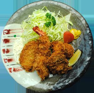 人気のミックスフライ定食 … 1,680円