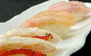 バリエーションに富んだ金目鯛のお寿司