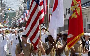 アメリカ軍によるパレード