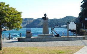 黒船来航の地、ペリー艦隊上陸記念碑