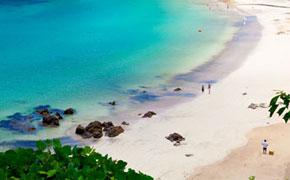 白い砂浜がきれいな下田の外浦海岸
