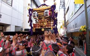 下田太鼓祭りの神輿