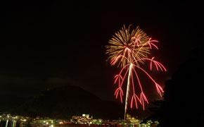 下田太鼓祭りの花火