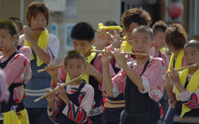 下田太鼓祭りの1シーン