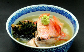 地金目鯛の茶漬け … 650円