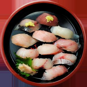 10種類の魚を味わえる地魚ずし … 2,500円
