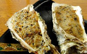 牡蠣の玉素焼き … 2個 600円