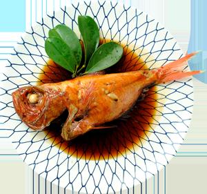 確かな目利きで厳選された肉厚の金目鯛の煮付け