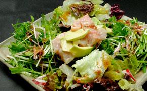地金目鯛とアボカドのサラダ … 980円