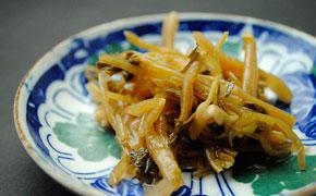 山葵の茎の甘酢付け