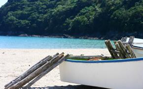鍋田浜の風景