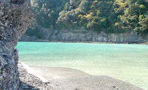 透明度の高い鍋田浜