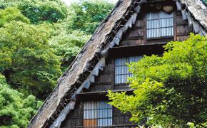 飛騨白川郷より移築した村上合掌造り民芸館