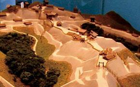 下田の道の駅では、下田城の模型が展示されています