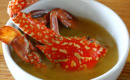 棚からぼた餅・・・渡り蟹!