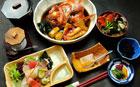 刺身と金目煮定食