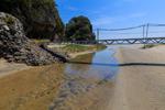 入田浜の小さな橋