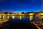 下田の河岸夕景