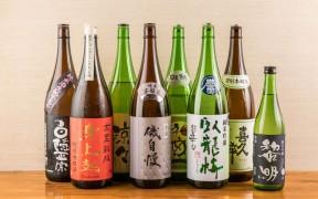 静岡の地酒が揃う