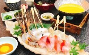 金目鯛と海鮮串のウニしゃぶ膳・・3,800円(税別)