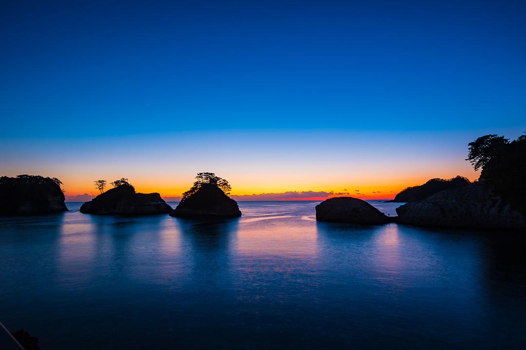 夕日の余韻に息を呑む