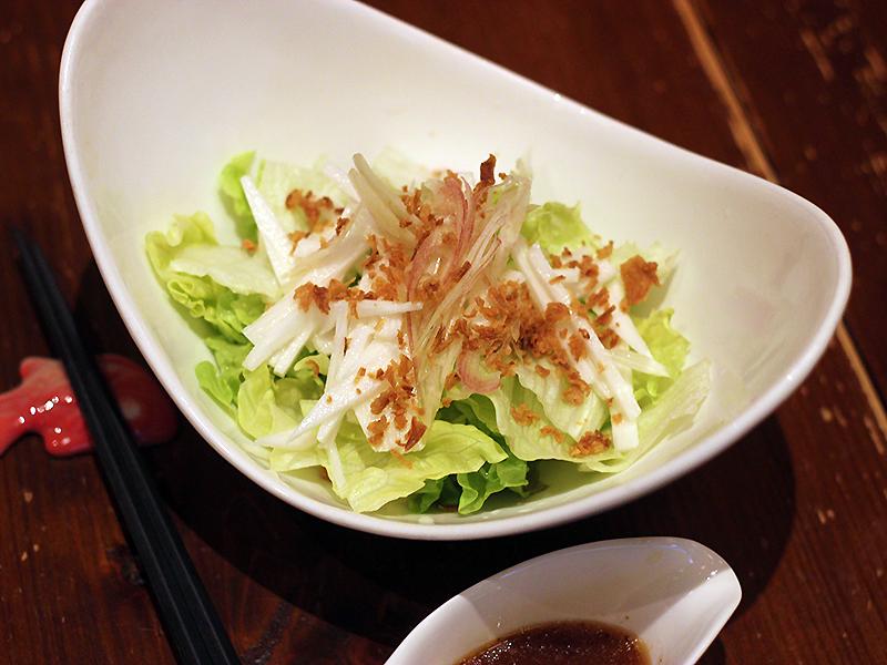 長芋と茗荷のサラダ500円(税別)